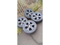 "17"" 4x Black Gloss Audi Alloy Wheels For Sale"