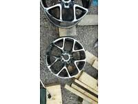 "Black Chrome 17"" 5x120 alloy wheels"
