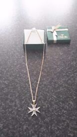 18ct Gold and Diamond Maltese Cross Necklace