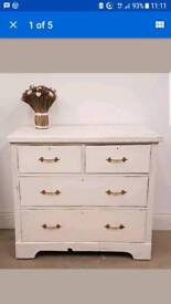 Up cycled chest of three drawers