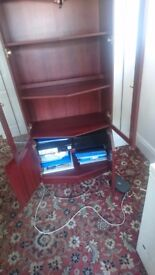Cupboard, Display unit, Mahogany wood, used but in very good condition !