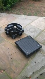 Inspection Chamber/ Manhole plastic with cover included 450mm diameter six outlets brand new