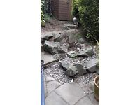 Rocks for landscaping or water feature etc