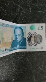 New five pound note.