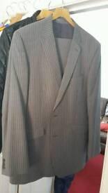 Burton Menswear Tailored Pinstripe Suit