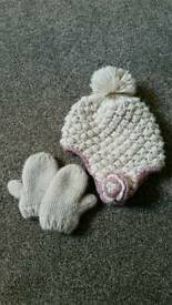 Next hat and mitts set 1-2 years