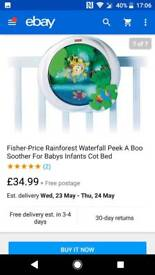 Fisher Price Rainforest Peek-a-boo Soother