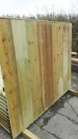 6ft x 5ft tanalised vertical board fence panels £17.99 EACH