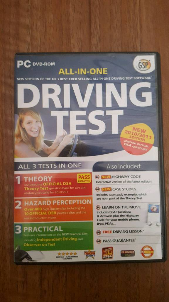 All in one Driving Test DVD Theory, Hazard Perception and Practical.