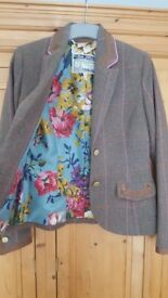 Joules tweed jacket size 8