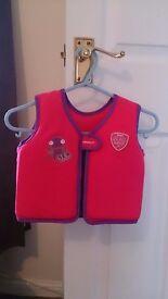Girls swimming vest, aged 2-4 years.