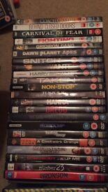 Action/ thriller/ horror themed DVDs