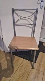 Wooden dining table and 2 chairs