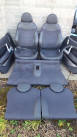 BMW MINI COOPER S HALF LEATHER SEATS WITH DOOR CARDS R50 R52 R53 ONE