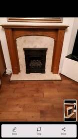 Fireplace surround and marbel backing