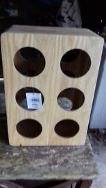 Light wooden wine rack