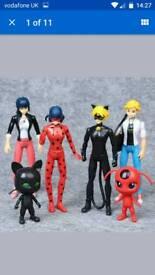 Miraculous ladybug 6 peice figures