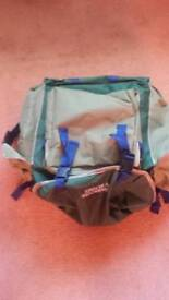 Fishermans stool and bait bag