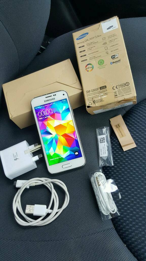 Samsung Galaxy S5 16gb mini white blue black colour Unlocked good condition unlocked boxedin Bradford, West YorkshireGumtree - Samsung Galaxy S5 16gb mini in white blue and black colour,Unlocked to all networks works with any sim cards,Great working order without any faults and good used condition,No time waster pls.Thanks