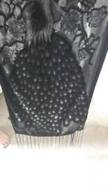 Black and grey over the shoulder wrap 5.5ft long