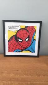 Pop Art Spider-Man framed print.