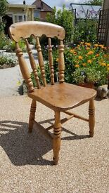 Vintage/Antique/Shabby Chic, SMALL Oak kitchen / bedroom chair. Good solid construction