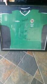 Northern Ireland football top SIGNED