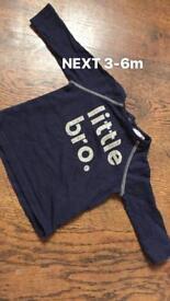 Boys 3-6 bundle brother tshirt jumper