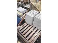 50 new 450 x 450 light grey Riven patio slabs
