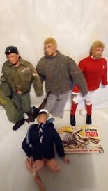 Vintage 1970s Action Men and accessories.
