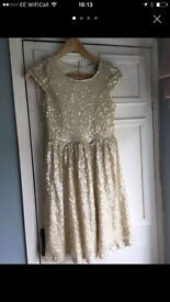 Ladies beautiful sequined dress size 8