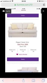 Two seater sofa and armchair - Freya collection dfs
