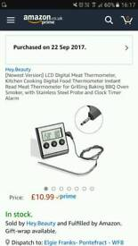 Lcd digital meat thermometer