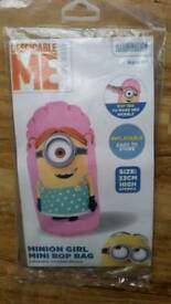 Minions Girl Mini Bop Bag NEW