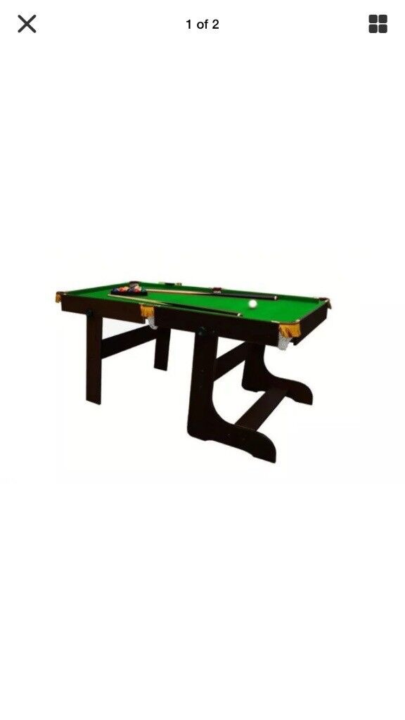 BOXED NEW Foldable 6ft pool table main body