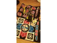 Playstation2 with controller, 2 x dancemats and games