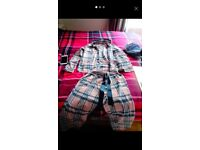 Lipsy ladies pjs checked size S