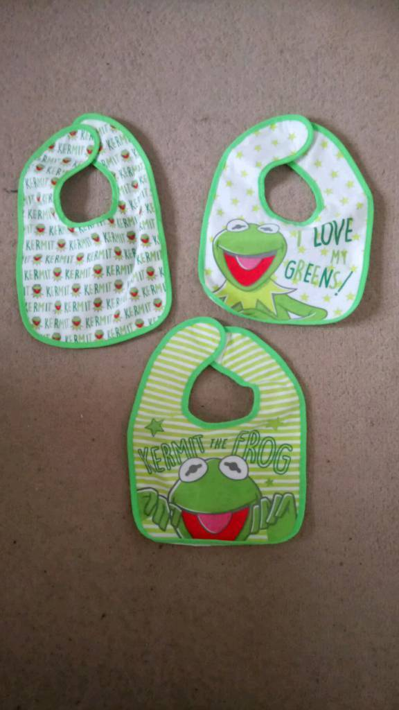 Kermit the frog bibs