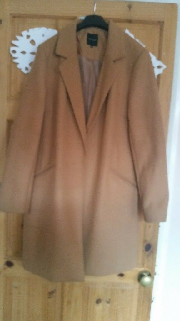 Camel colour , woman coat , size 14