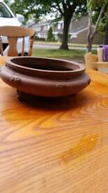Small round bonsai ceramic pot