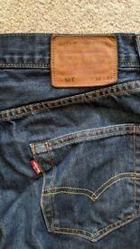 Levi 501 jeans 30w 32l - VGC