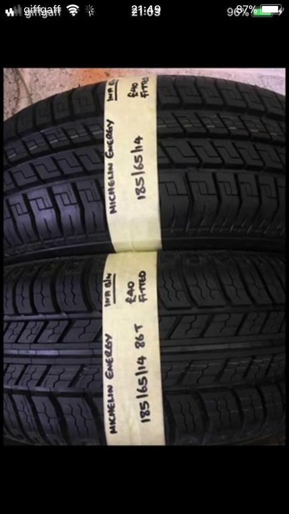 185/65/14 1856514 185-65-14 185:65:14 brand new Michelin Energy Pair Of 2 Tyres.