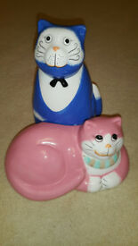 Enesco Nine Lives Fat Cats Ornament New in Box