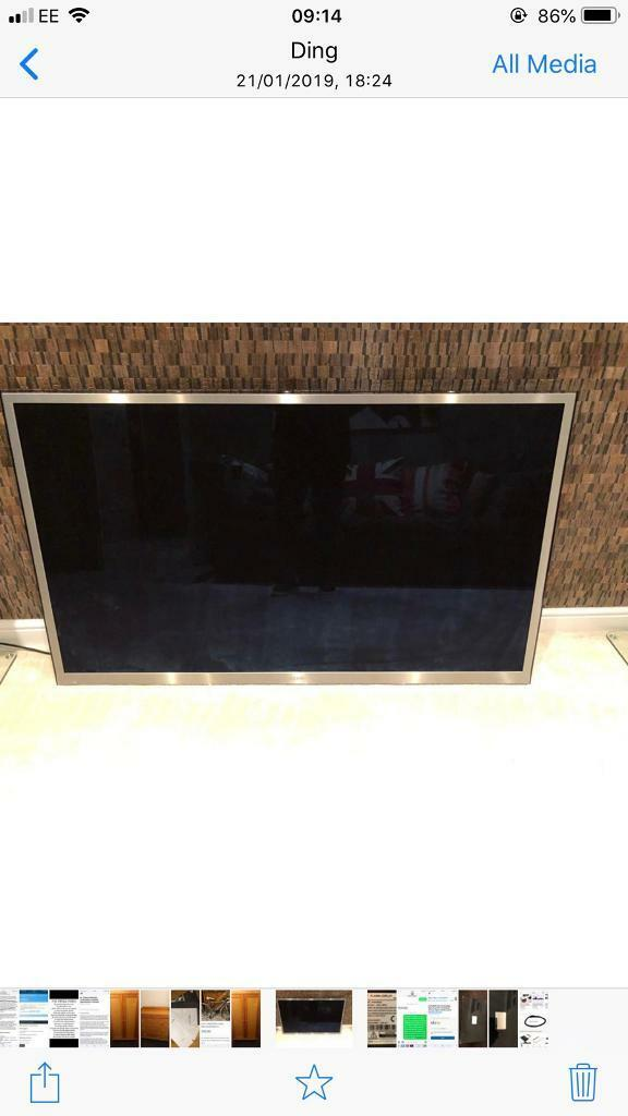 Samsung plasma 64 inch 3D tv with glasses Crack in screen but easy repair  150 Ono cost £3500 | in Leeds, West Yorkshire | Gumtree