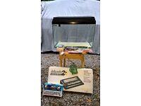 "Tropical Fish Tank (aquarium) (24""x12"") with all essential accessories"