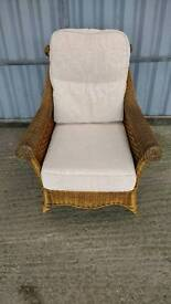 Conservatory Chair - Wicker Lounge chair with Cushions