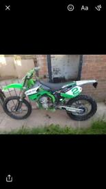 01 kx250 swaps for DTR125?? Or £1500