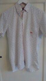 Men's designer short sleeve shirt Dario Beltran, brand new with tags. Size 40, 15 3/4. 100% cotton