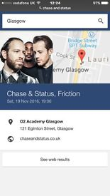 2 Chase and status concert tickets