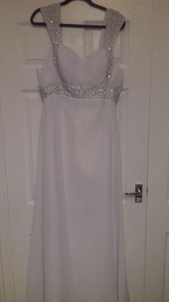 chiffon corset wedding dress